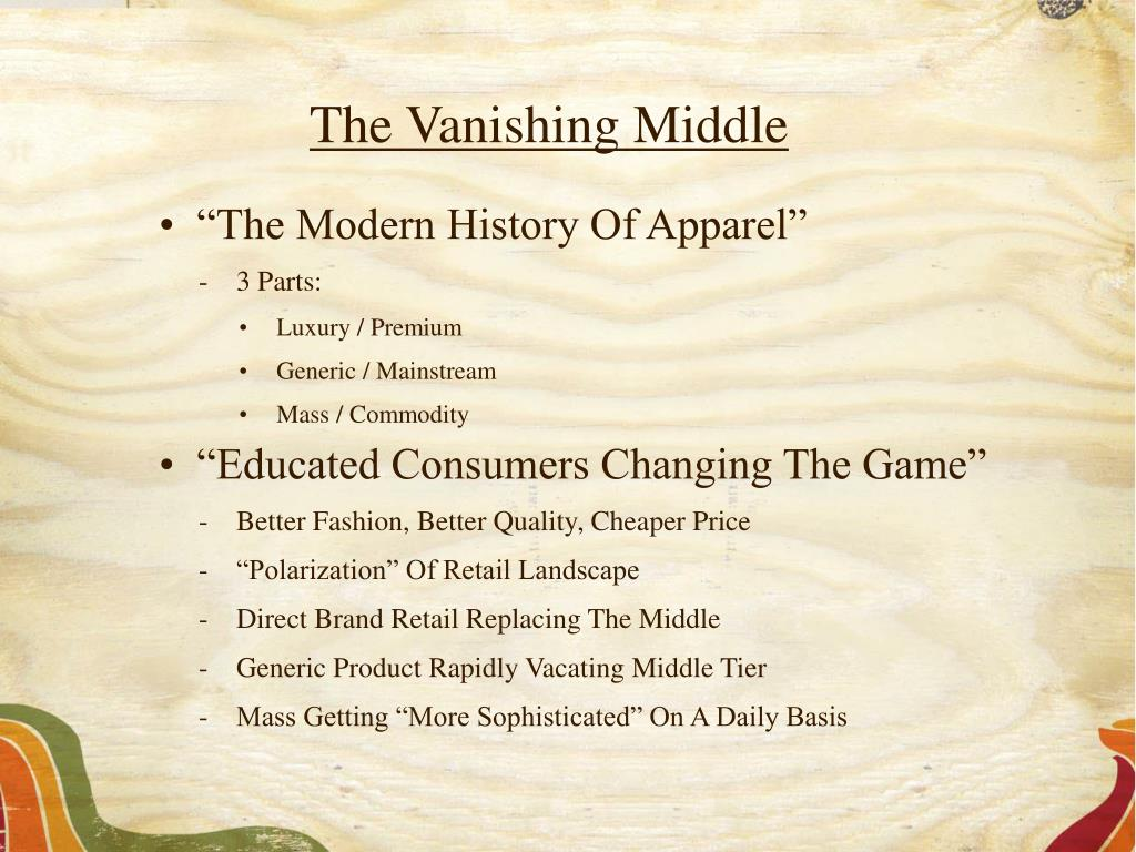 The Vanishing Middle