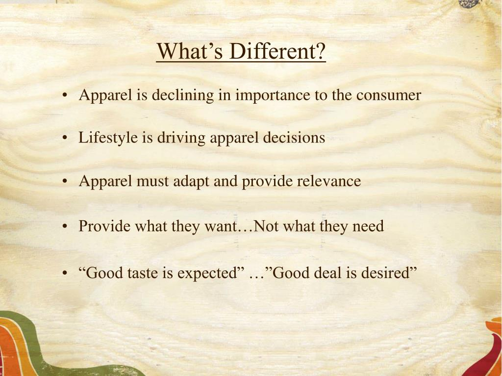 What's Different?