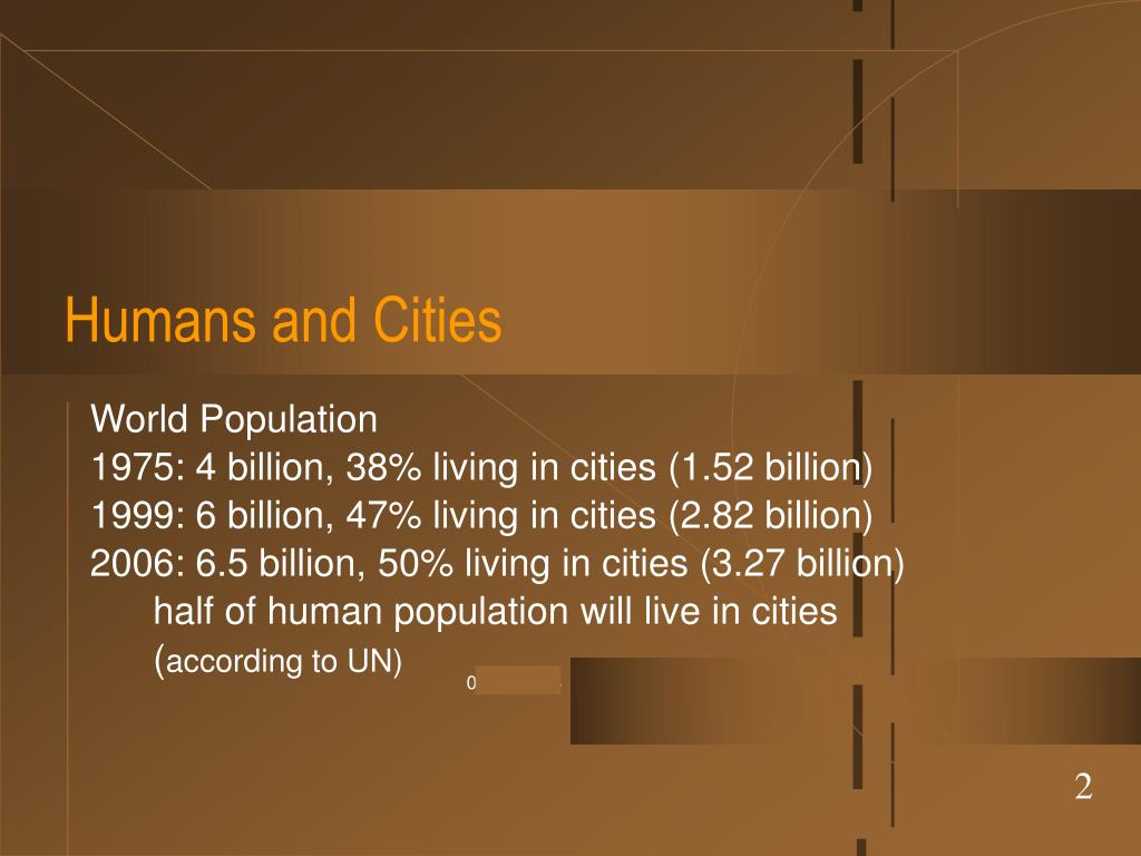 Humans and Cities