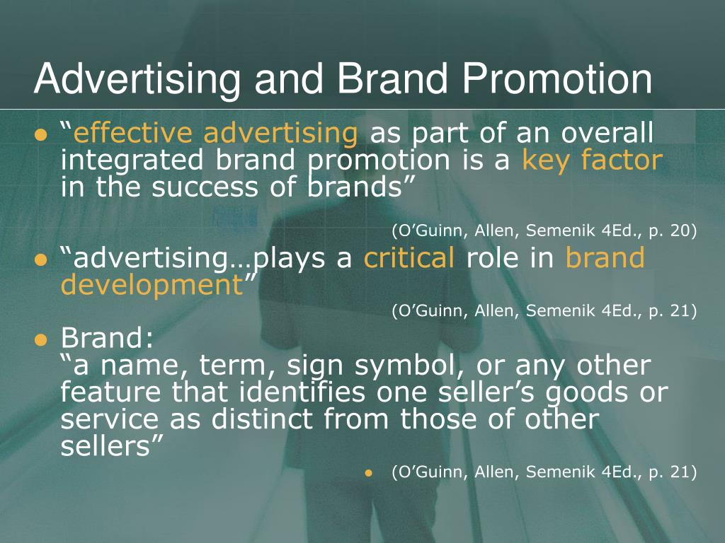 Advertising and Brand Promotion