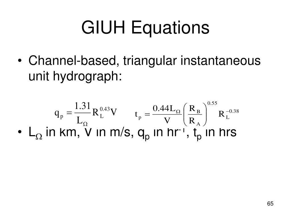 GIUH Equations