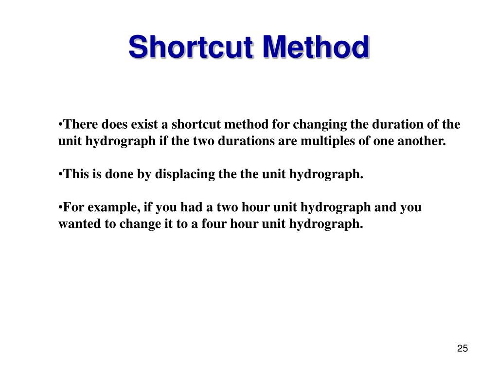Shortcut Method