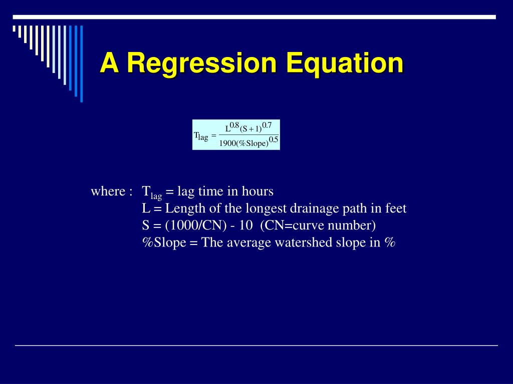 A Regression Equation