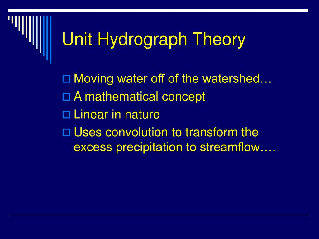 Unit Hydrograph Theory