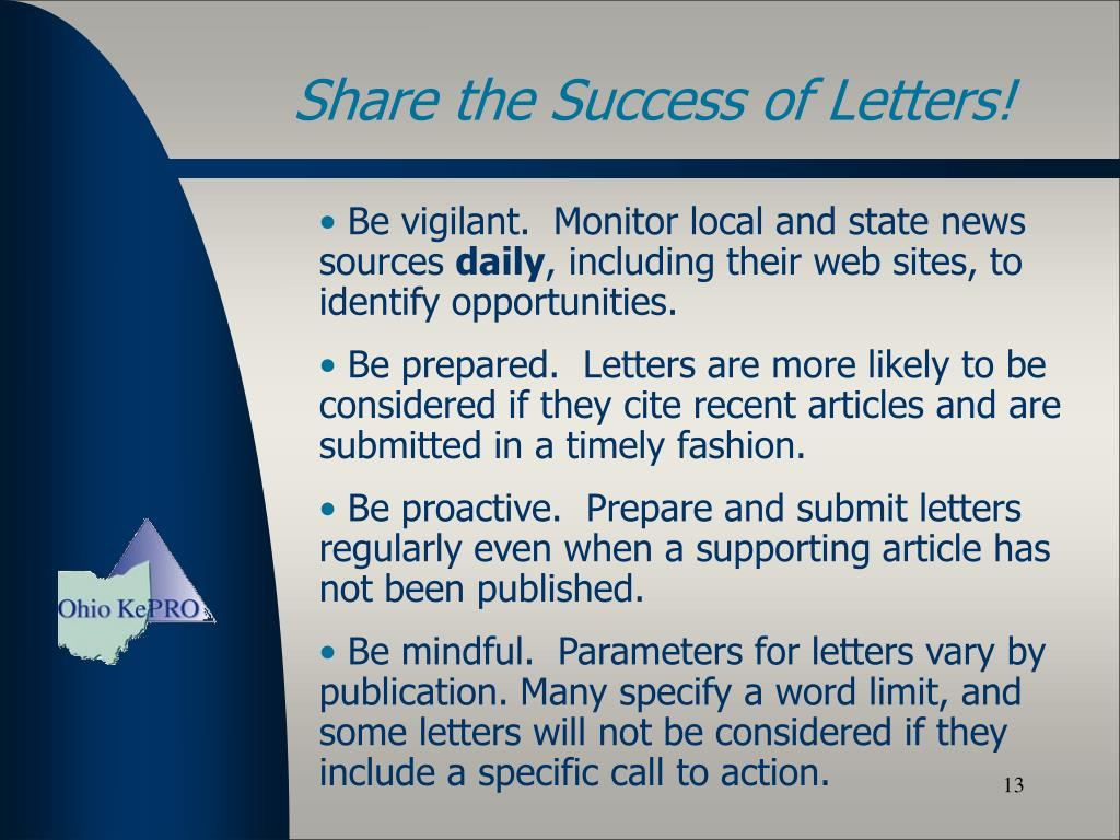 Share the Success of Letters!