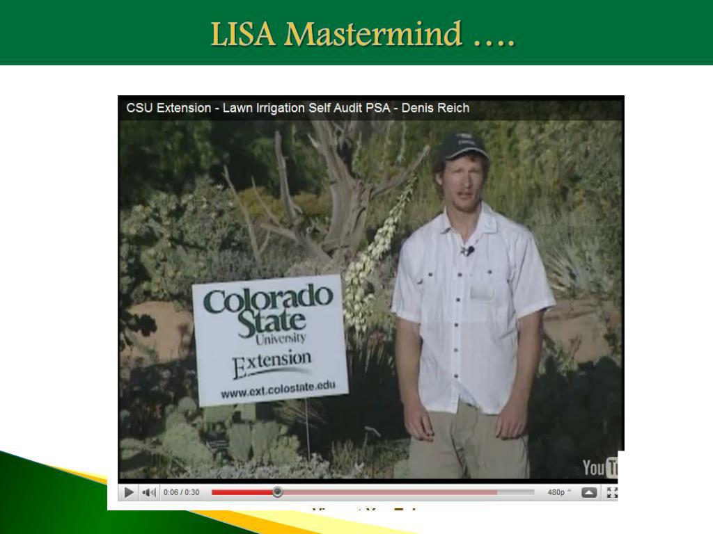 LISA Mastermind ….