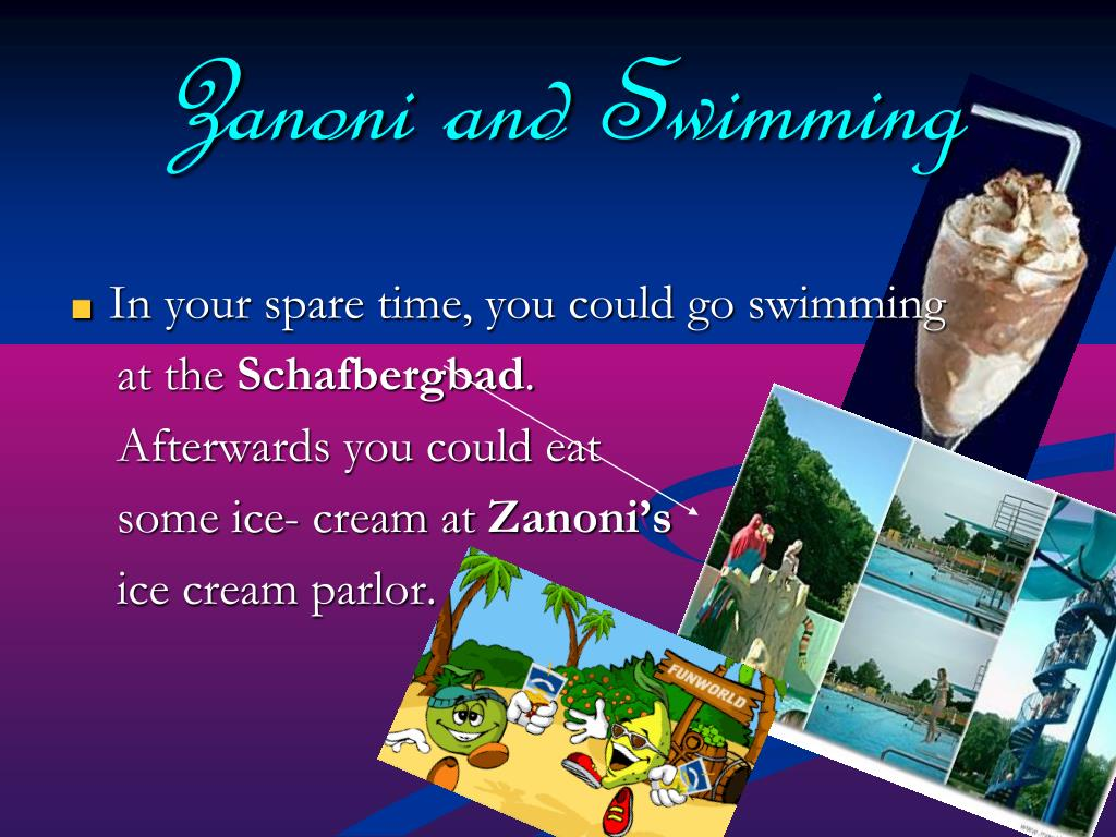 Zanoni and Swimming