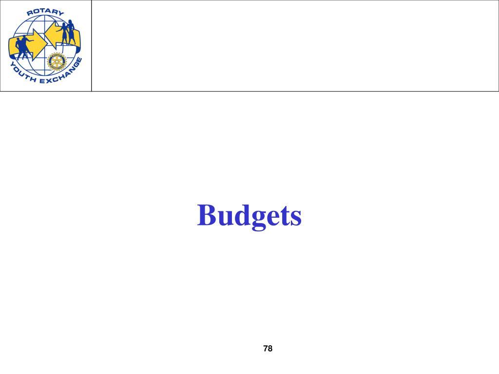 Budgets