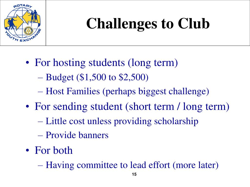 Challenges to Club