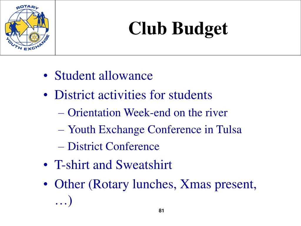Club Budget