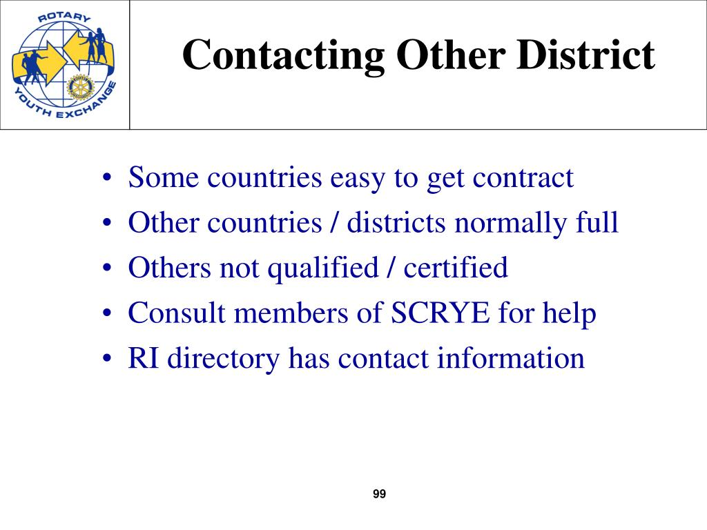 Contacting Other District