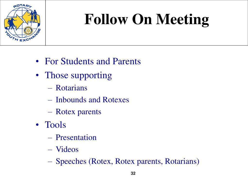 Follow On Meeting