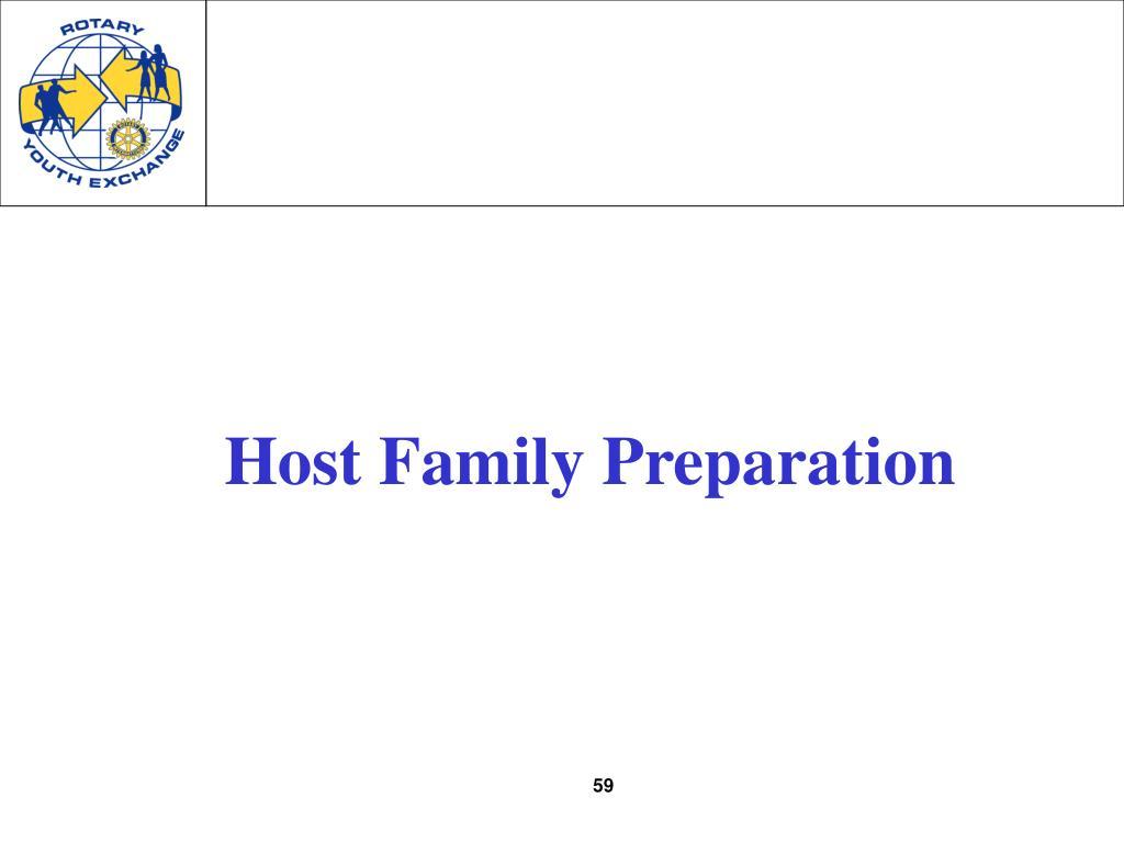 Host Family Preparation