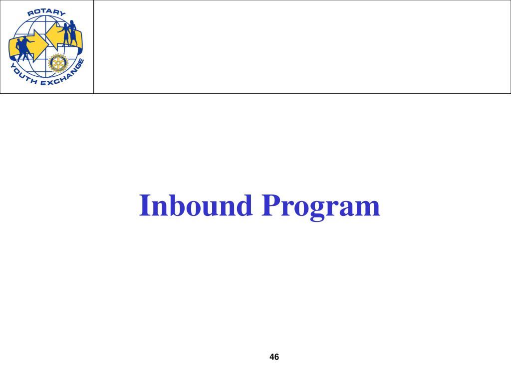 Inbound Program