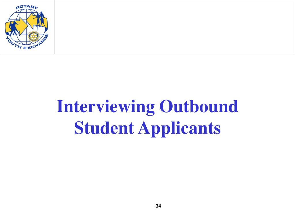 Interviewing Outbound Student Applicants