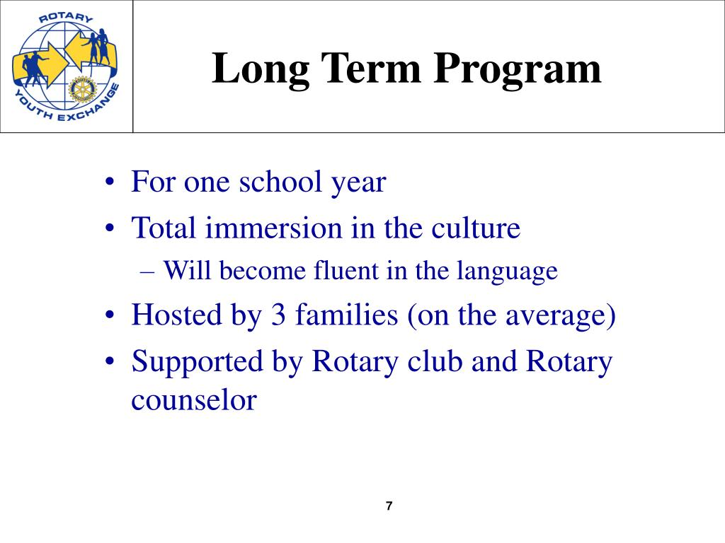 Long Term Program
