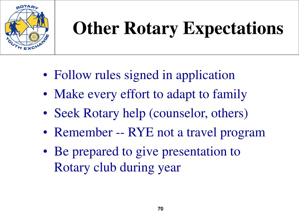Other Rotary Expectations