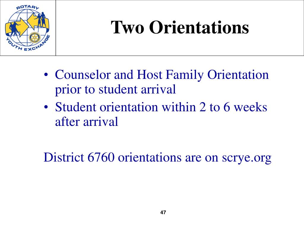 Two Orientations