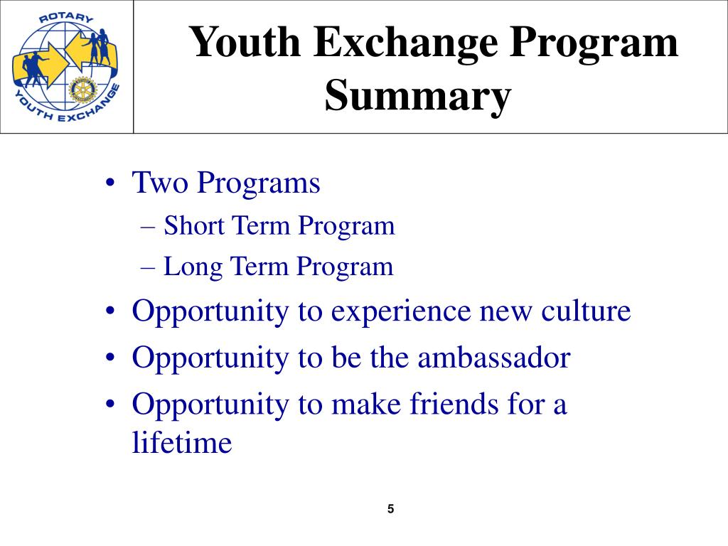 Youth Exchange Program Summary