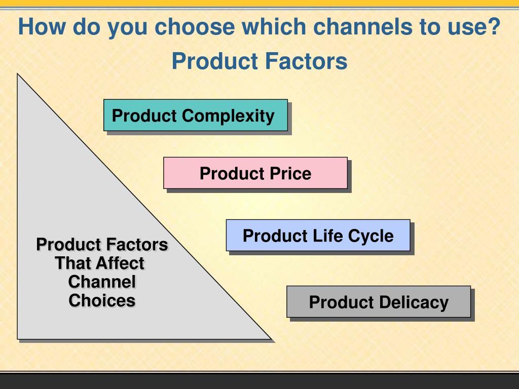 How do you choose which channels to use?