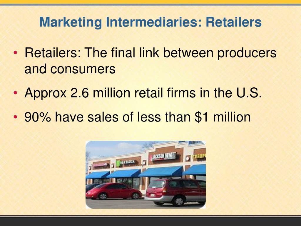 Marketing Intermediaries: Retailers