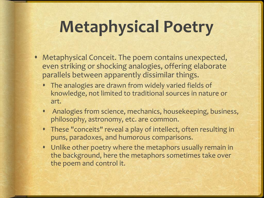thesis on metaphysical poetry John donne as a metaphysical poet essays - no fails with our reliable writing services craft a quick custom research paper with our assistance and make your teachers shocked 100% non-plagiarism guarantee of custom essays & papers.
