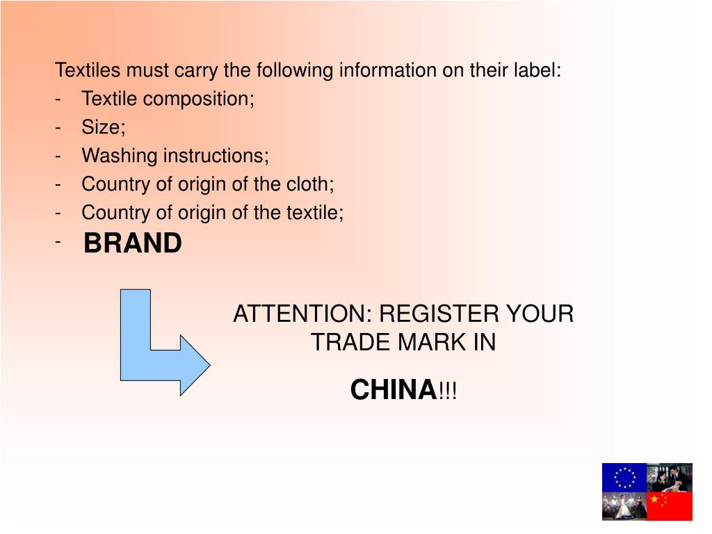 Textiles must carry the following information on their label
