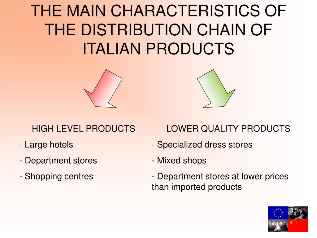 THE MAIN CHARACTERISTICS OF THE DISTRIBUTION CHAIN OF ITALIAN PRODUCTS