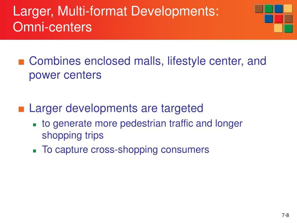 Larger, Multi-format Developments: