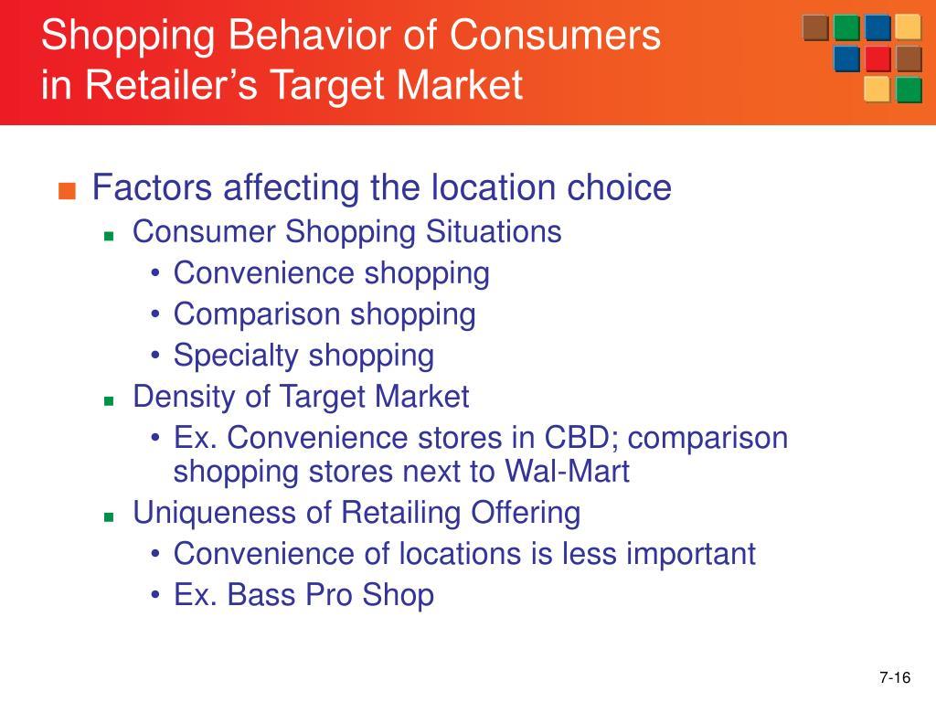 Shopping Behavior of Consumers