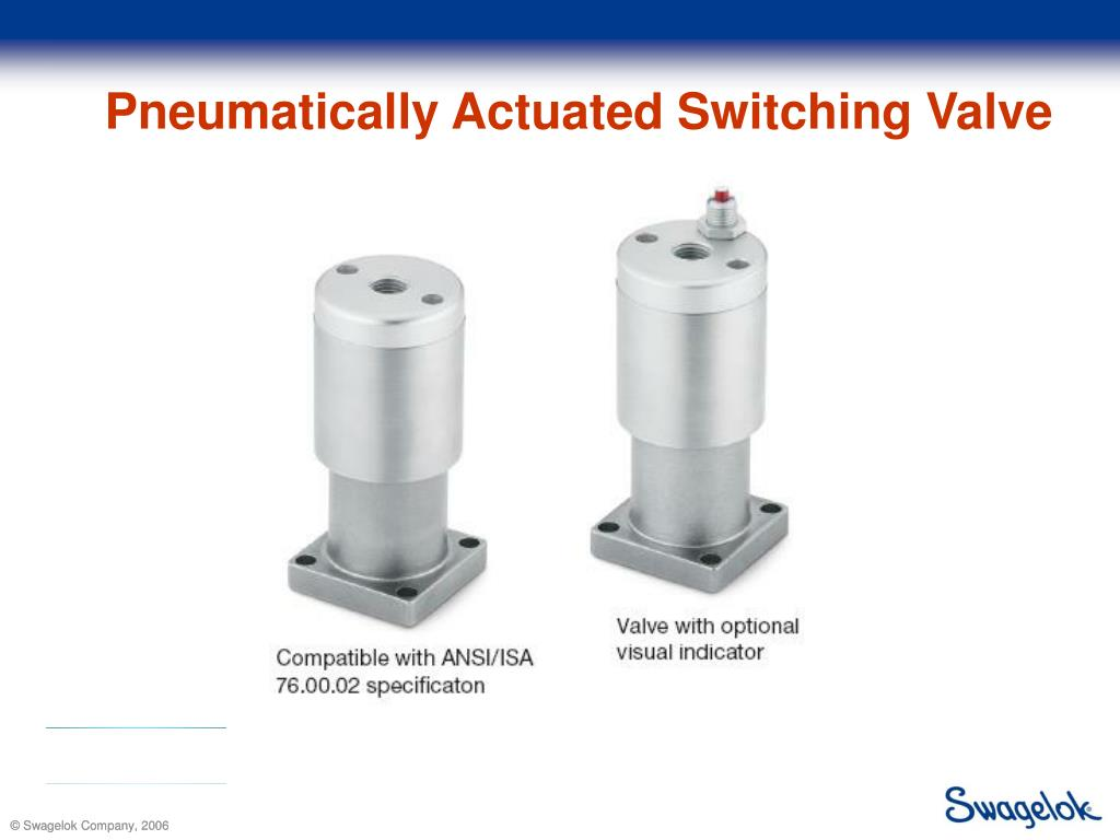 Pneumatically Actuated Switching Valve