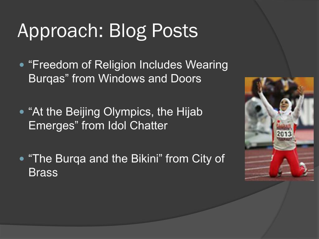 Approach: Blog Posts