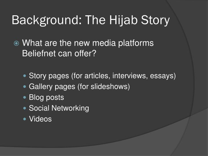 Background the hijab story3