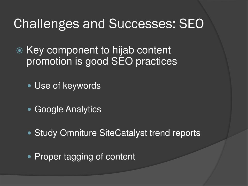 Challenges and Successes: SEO