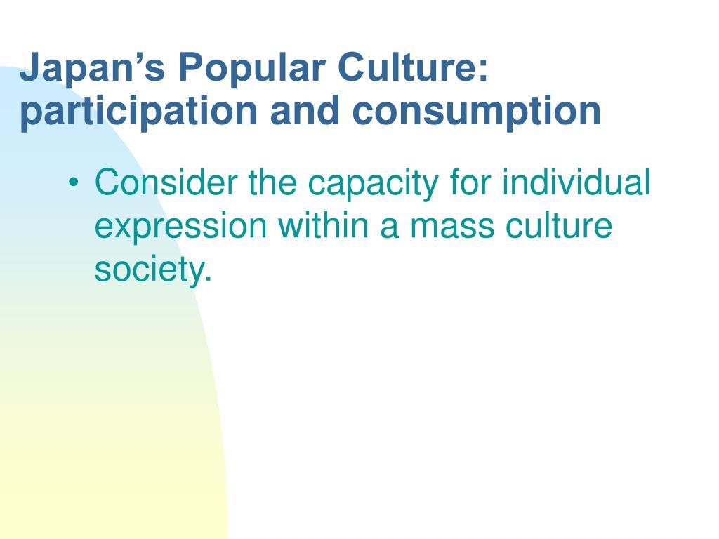 Japan's Popular Culture: