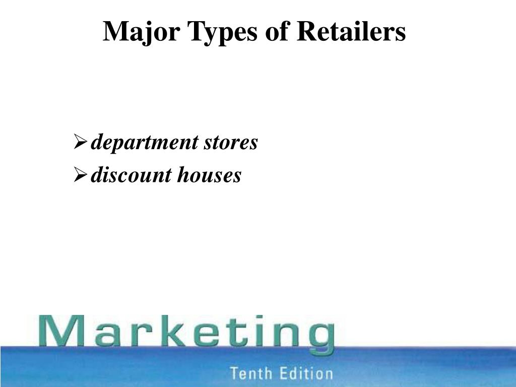 Major Types of Retailers
