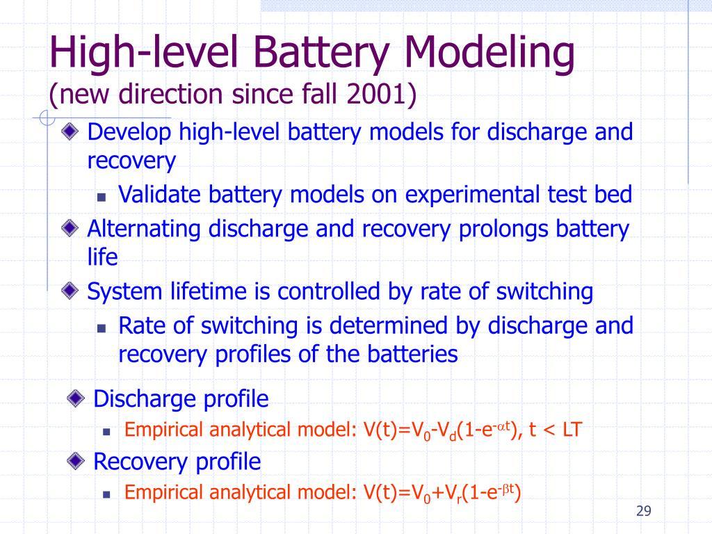 High-level Battery Modeling