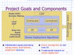 project goals and components
