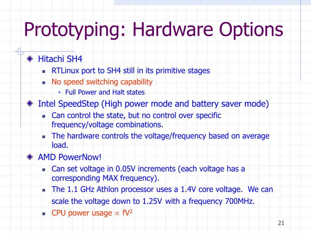Prototyping: Hardware Options