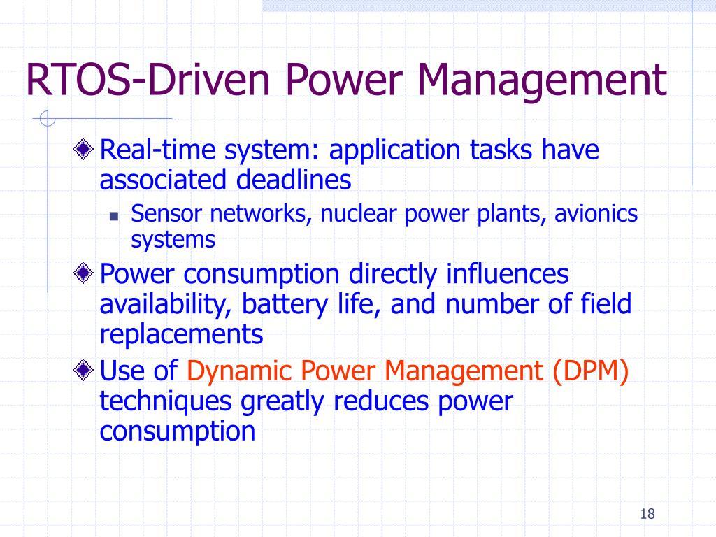 RTOS-Driven Power Management