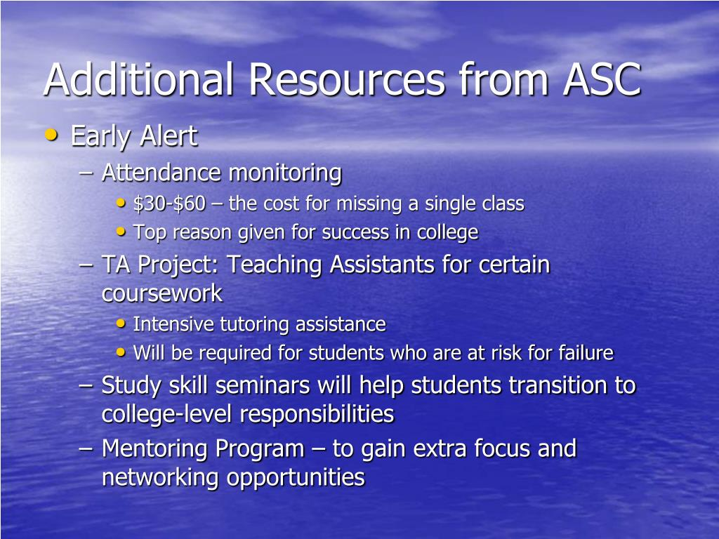 Additional Resources from ASC