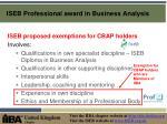 iseb professional award in business analysis7