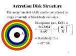 accretion disk structure