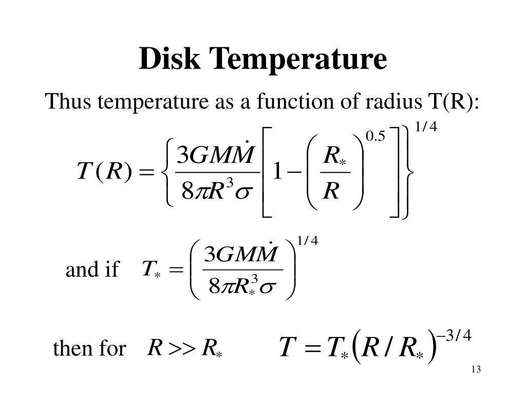 Disk Temperature