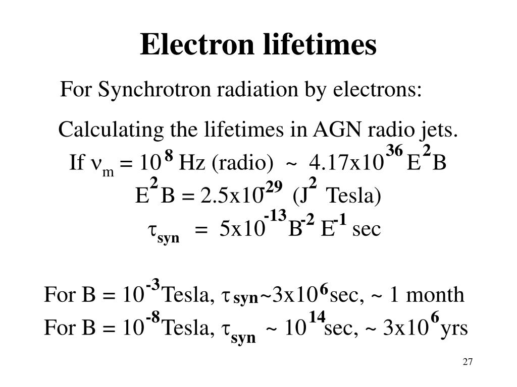 Electron lifetimes