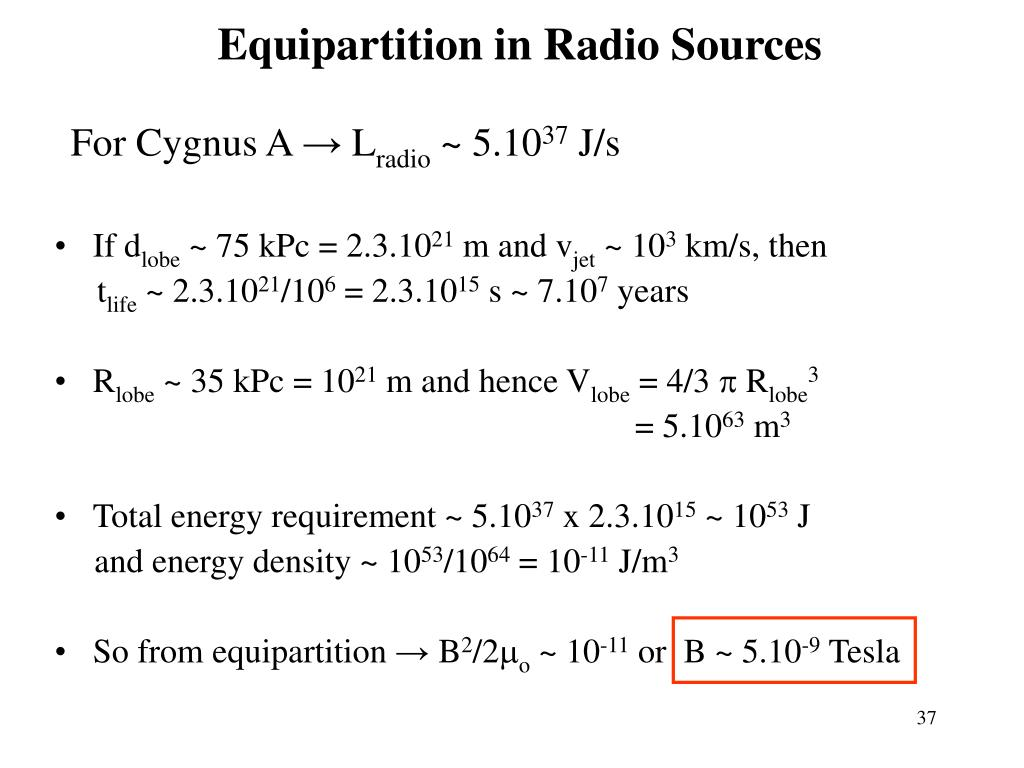 Equipartition in Radio Sources