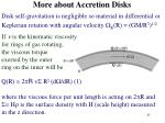 more about accretion disks