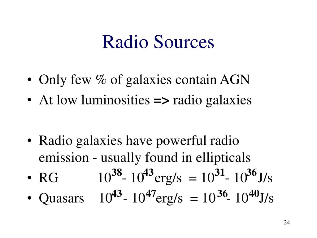 Radio Sources