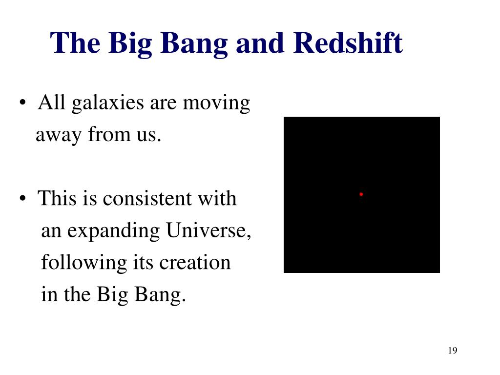 The Big Bang and Redshift