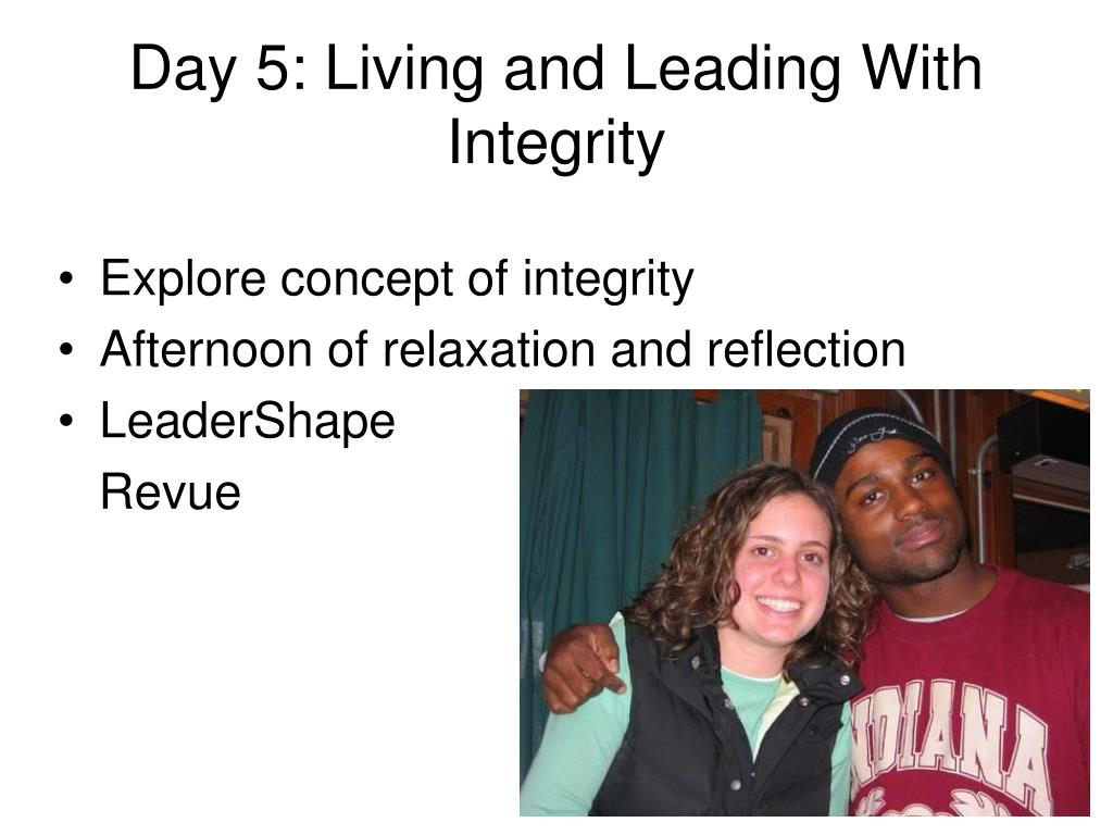 Day 5: Living and Leading With Integrity